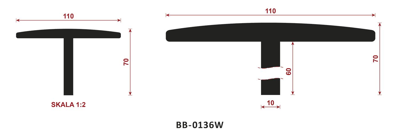 uszczelka typu t BB-0136W