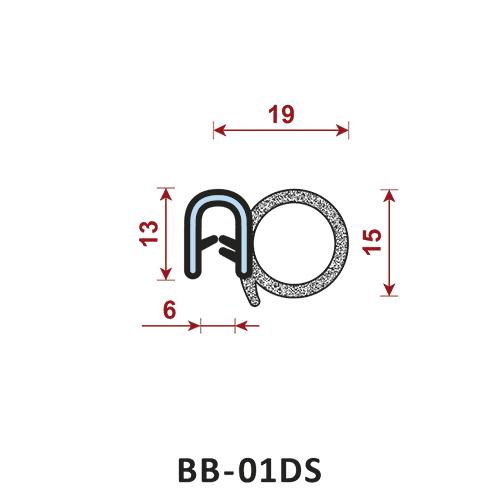 uszczelka krawędziowa BB-01DS zakres zacisku 6 mm