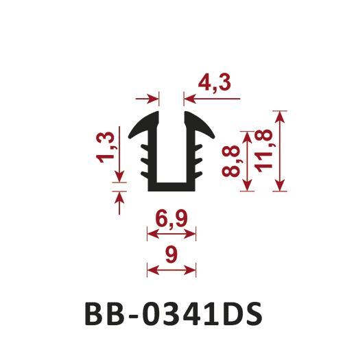 osłona krawędzi - uszczelka typu U BB-0341DS