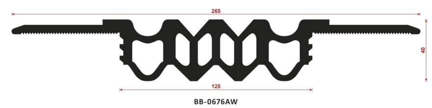 uszczelka do dylatacji BB-0676AW