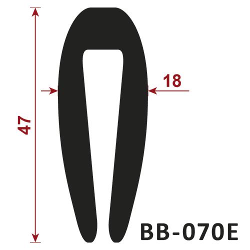 uszczelka pvc BB-070E