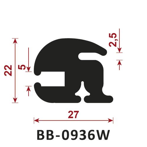 uszczelka do szyb BB-0936W