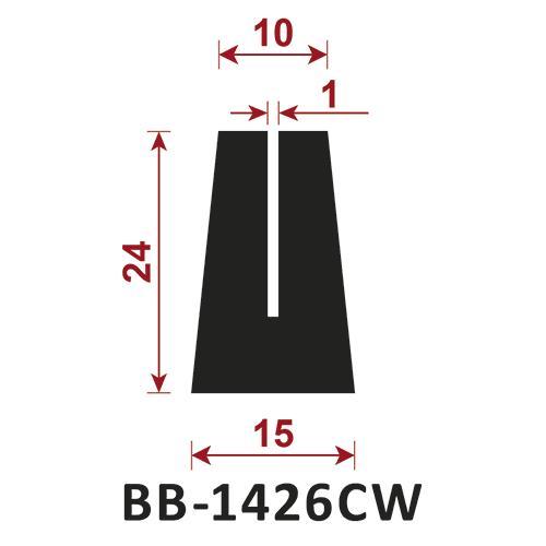 osłona krawędzi - uszczelka typu U BB-1426CW 10 mm