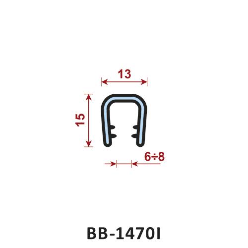 uszczelka krawędziowa BB-1470I zakres zacisku 6-8 mm - uszczelka na rant