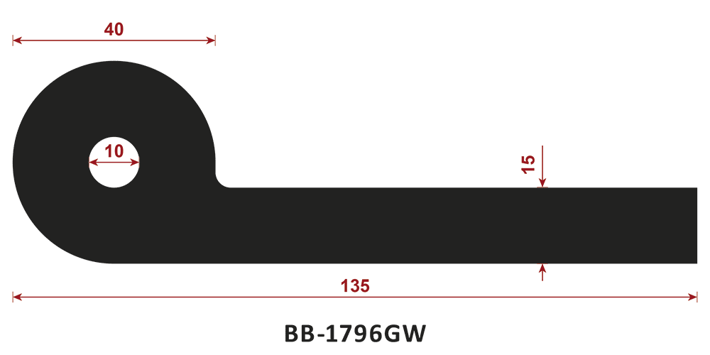 uszczelka typu P BB-1796GW