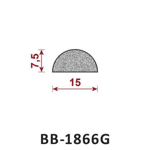 uszczelka półokrągła pełna BB-1866G