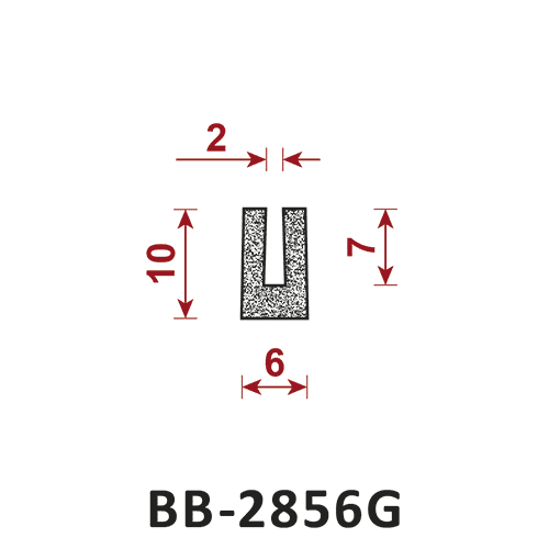 uszczelka BB-2856G 2/6 mm