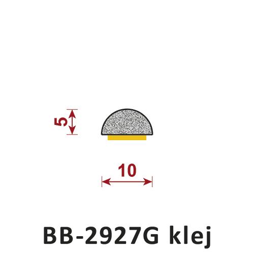 uszczelka półokrągła pełna z klejem BB-2927G