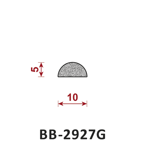 uszczelka półokrągła pełna BB-2927G