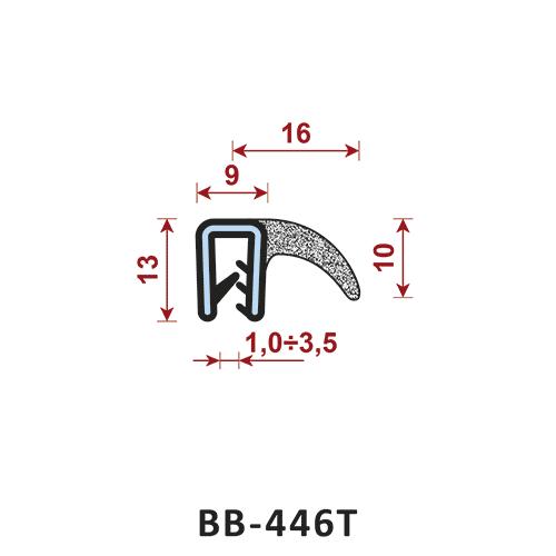 uszczelka krawędziowa BB-446T zakres zacisku 1-3,5 mm - uszczelka na rant