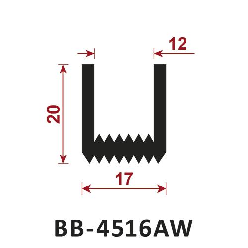 osłona krawędzi - uszczelka typu U BB-4516AW 12 mm