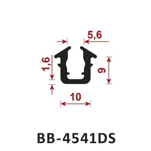 osłona krawędzi - uszczelka typu U BB-4541DS 5,6 mm