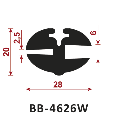 uszczelka do szyb BB-4626W