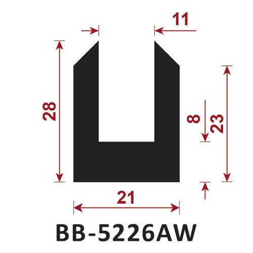 osłona krawędzi - uszczelka typu U BB-5226AW 11 mm