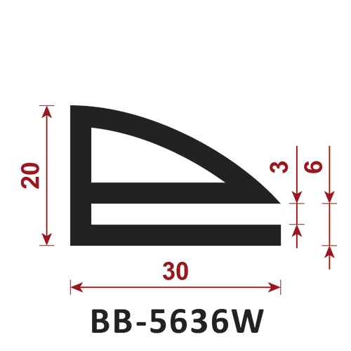 uszczelka typu e BB-5636W