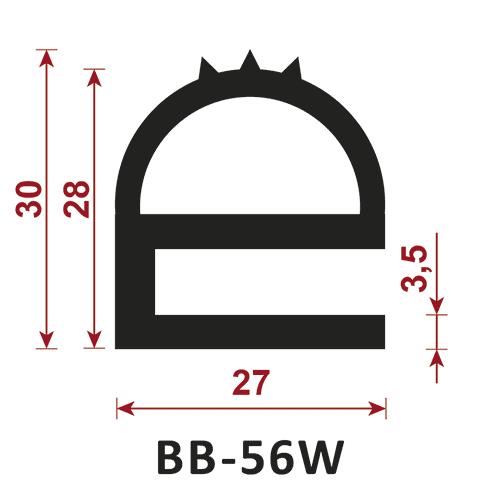 uszczelka typu e BB-56W