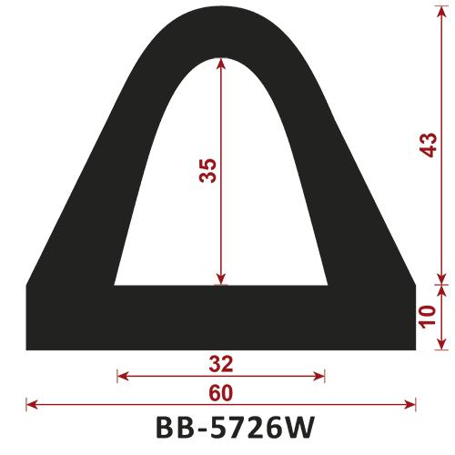 odbojnik gumowy BB-5726W - odbojnica gumowa typ D