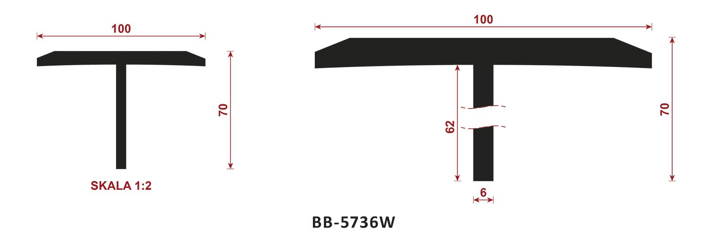 uszczelka typu t BB-5736W