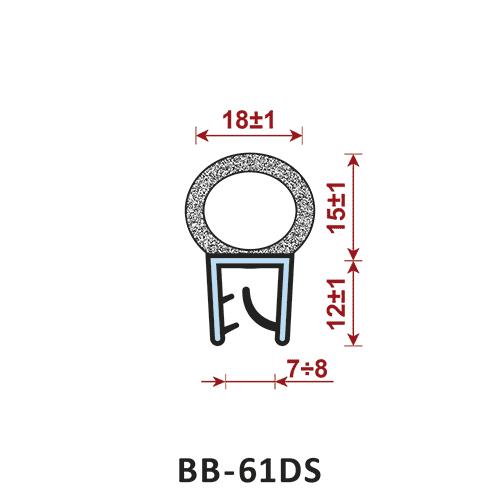 uszczelka krawędziowa BB-61DS zakres zacisku 7-8 mm - uszczelka na rant