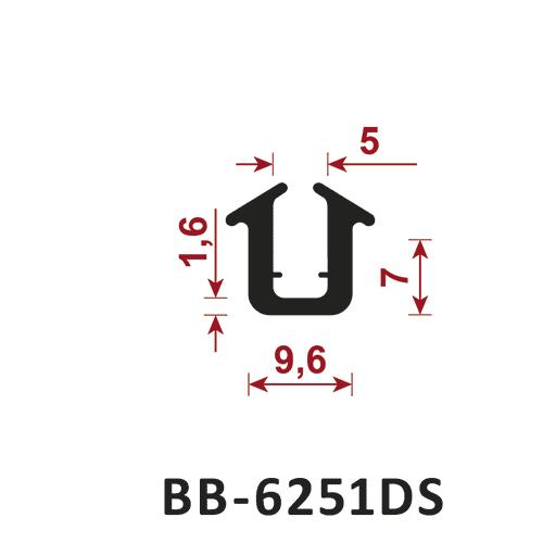 osłona krawędzi - uszczelka typu U BB-6251DS 5 mm