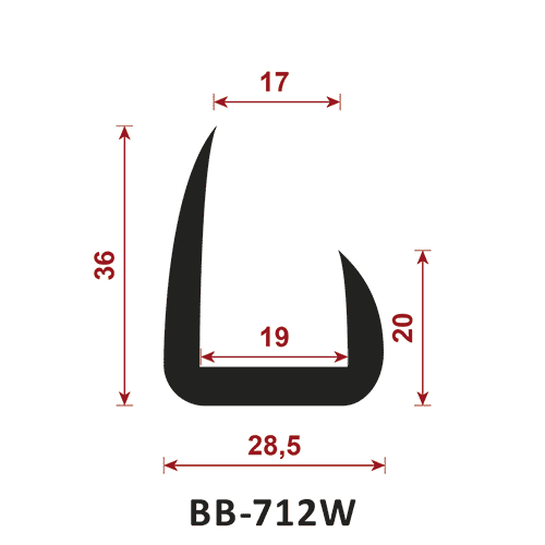 uszczelka typu t BB-712W