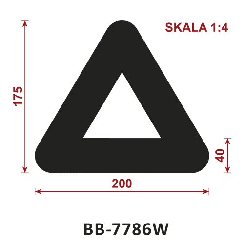 odbojnik gumowy BB-7786W - odbojnica gumowa typ D