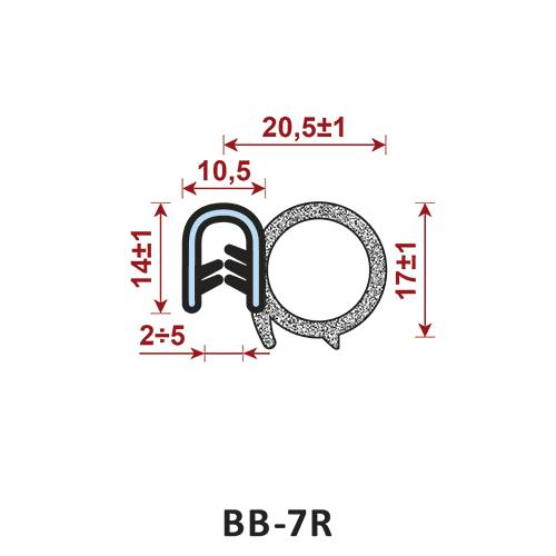 uszczelka krawędziowa BB-7R zakres zacisku 2-5/10,5 mm