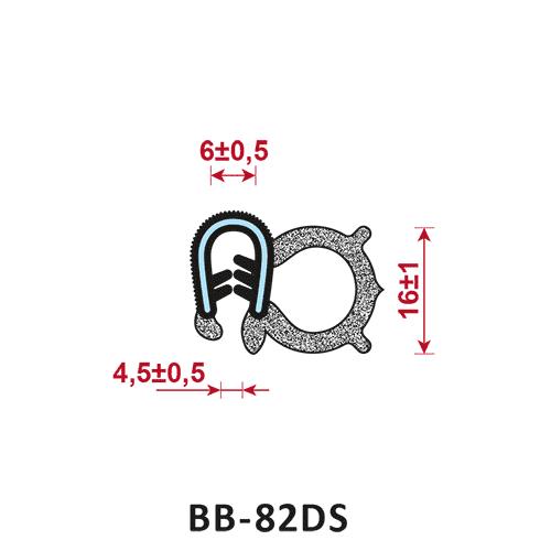 uszczelka krawędziowa BB-82DS zakres zacisku 4,5+-0,5/6+-0,5
