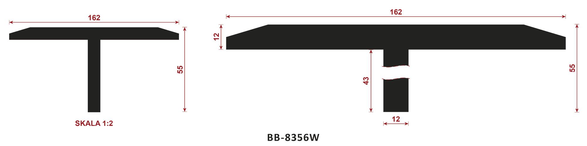 uszczelka typu t BB-8356W