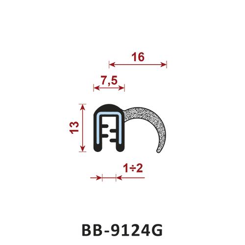 uszczelka krawędziowa BB-9124G zakres zacisku 1-2 mm