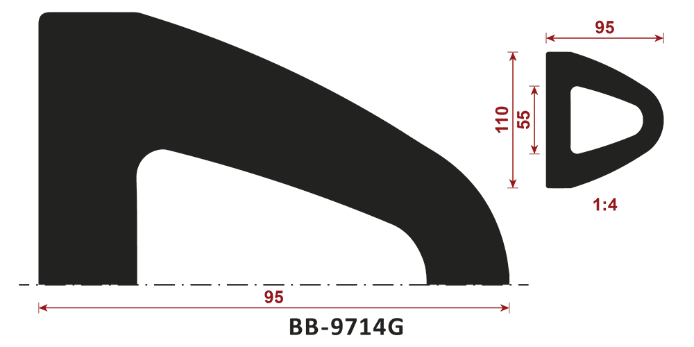 odbojnik gumowy BB-9714G - odbojnica gumowa typ D
