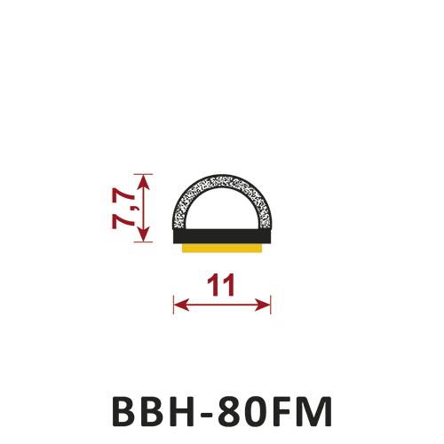 uszczelka uszczelka półokrągła z klejem BBH-80FM
