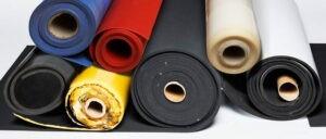 płyty z mikrogumy, gumy porowatej, silikonu, gumy litej i polietylenu