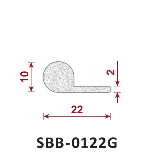uszczelka silikonowa gąbczasta SBB-0122G