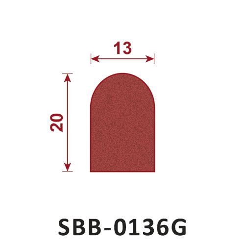 uszczelka silikonowa gąbczasta SBB-0136G