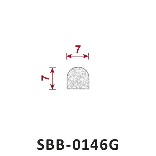 uszczelka silikonowa gąbczasta SBB-0146G