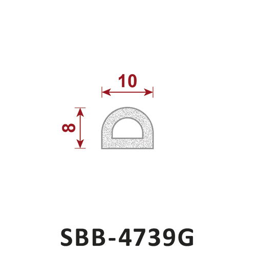 uszczelka silikonowa gąbczasta SBB-4739G