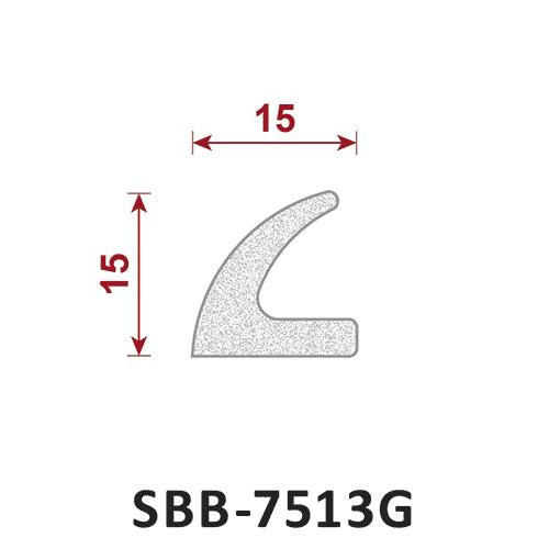 uszczelka silikonowa gąbczasta SBB-7513G