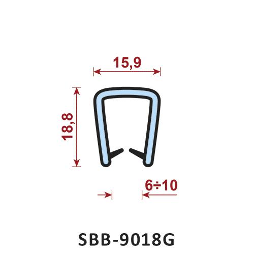 uszczelka silikonowa krawędziowa SBB-9018G zakres zacisku 6-10 mm