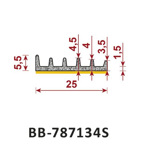 uszczelka samoprzylepna BB-787134S