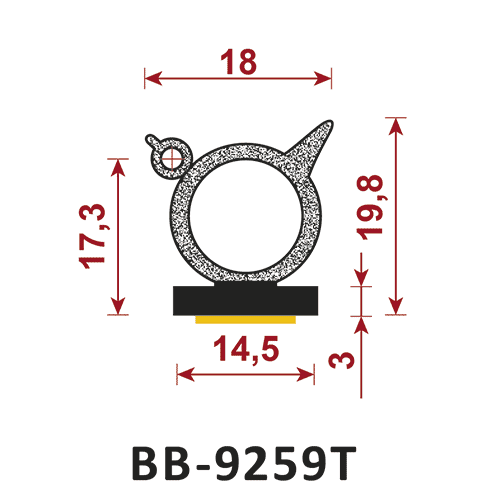 uszczelka samoprzylepna BB-2115DS
